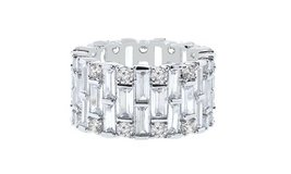 ***REDUCED***BRAND NEW***Baguette Swarovski Crystals Eternity Ring: 9*** in Kingwood, Texas