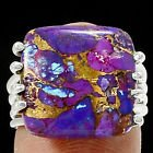 New - Purple Copper Turquoise 925 Sterling Silver Ring - Size 6 in Alamogordo, New Mexico