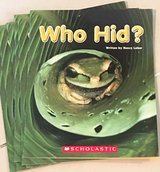 6 Scholastic Guided Reading Books Who Hid? in Okinawa, Japan