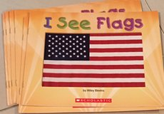 6 Scholastic Guided Reading Books Level A  I See Flags in Okinawa, Japan
