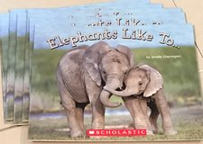 6 Scholastic Level A Guided Reading Books Elephants Like To... in Okinawa, Japan