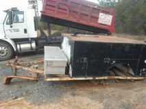Enclosed utility bed on trailer in Fort Polk, Louisiana