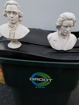 STATUES OF MOZART & BEETHOVEN in Tinley Park, Illinois