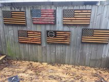 wooden flags in Fort Benning, Georgia