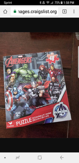 Avengers 48 piece puzzle new in box in Schaumburg, Illinois