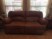 Couch with 2 built in recliners in The Woodlands, Texas