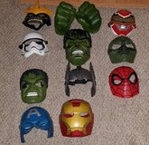 Superhero/Villain Masks & Hulk Fists LOT in Byron, Georgia