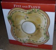 Fitz & Floyd Mediterraneo Large Ceramic Divided Server/ Chip N Dip in Conroe, Texas