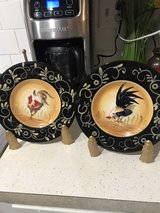 matching set of decorative plates w/stands in Fort Polk, Louisiana
