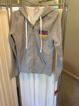 ***BRAND NEW***LSU Zip Up Grey Hoodie Jacket***SZ Medium in Cleveland, Texas