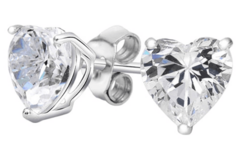 ***BRAND NEW***Heart-Cut Studs Made with Swarovski Elements***3 1/2 CTTW in Houston, Texas