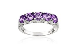 ***REDUCED****BRAND NEW***1.25 CTTW Amethyst Half-Eternity Ring in Sterling Silver****... in Cleveland, Texas
