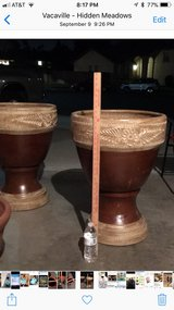 New large flower pots in Travis AFB, California