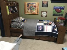 Twin Pottery Barn National League Quilt and Sheets in Oswego, Illinois