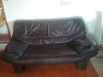 BLACK LEATHER COUCH (set of 3) in Stuttgart, GE