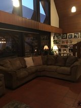 Cocoa colored, microfiber, large sectional couch. $200 OBO Ready to sell now! in Stuttgart, GE