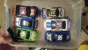 Six Slot Cars with track in excelllent condition with track set in Perry, Georgia