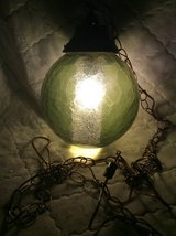 Vintage: Hanging Green Glass Globe Light in Macon, Georgia