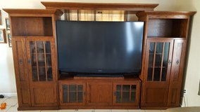 Entertainment Center with TV in Yucca Valley, California