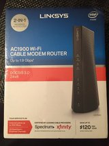Linksys AC1900 Dual-Band Wi-Fi Router and DOCSIS 3.0 Cable Modem in Baytown, Texas