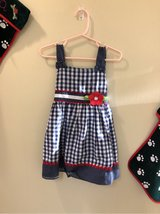 NWT - Sz 2T - Samara blue/white/red sundress in Okinawa, Japan