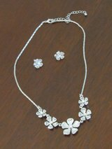 Silver Floral Necklace/Earring set in Oswego, Illinois
