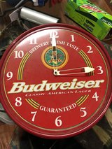 RED ELECTRIC BUDWEISER CLOCK SIGN in Fort Knox, Kentucky