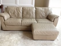 Leather sofa, loveseat, and ottoman. in Spring, Texas