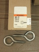 Stainless Steel #0 Large Eye Screws Hardware NEW in BOX in Lockport, Illinois