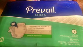Prevail Briefs 16 ct pk. youth sz. New in Camp Lejeune, North Carolina