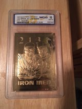 "CAL RIPKEN JR & LOU GEHRIG 1995 ""Iron Men"" (2131) 23kt Graded (10) Gold Card in Tacoma, Washington"