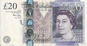 ENGLISH 20 POUND NOTE (US VALUE 25.74) in Fort Campbell, Kentucky