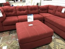 New Red Sectional Couch + Ottoman in Stuttgart, GE