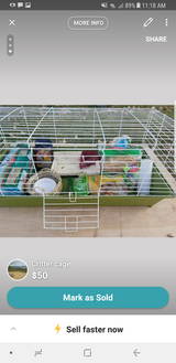 Cage with everything need gone today in Fort Carson, Colorado