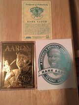 *** HANK AARON 1996 Bleachers 23kt Gold Card with C.O.A.*** in Tacoma, Washington
