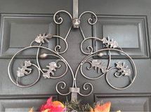 wreath hanger, metal scroll with leaves and owl in Fort Lewis, Washington