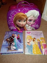 gorgeous frozen case princess book and olaf toy in Lakenheath, UK