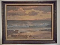Robert Woods Canvas Print of his world Famous Painting Vintage in Lake Elsinore, California