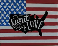 Land That I Love acrylic painting in Camp Pendleton, California