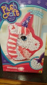 Unicorn pillow craft- brand new, never opened. in Bolingbrook, Illinois