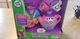 Leap frog tea party in Fort Drum, New York