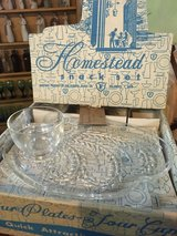 Vintage glass snack set in Fort Campbell, Kentucky