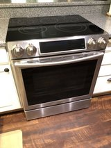 Samsung - 5.8 Cu. Ft. Self-Cleaning Slide-In Electric Convection Range - Stainless steel in Fairfield, California