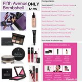 Fifth avenue bombshell makeup set in Fort Polk, Louisiana