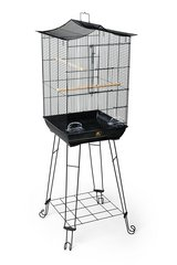 Prevue Pet Products Penthouse Suites Crown Roof Bird Cage with Black Stand in Oswego, Illinois