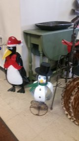 Snowman and Penguin in St. Charles, Illinois