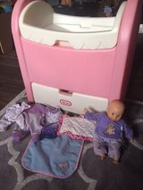 Fisher Price Doll Bed, cradle with accesories in Orland Park, Illinois