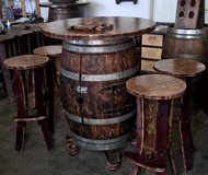 French wine barrel bar table in Ramstein, Germany