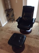Leather Swivel Chair and Ottoman, Excellent Condition! in Fort Bragg, North Carolina