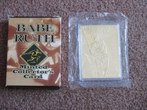 Babe Ruth Minted 22K Gold Foil Card in Lockport, Illinois